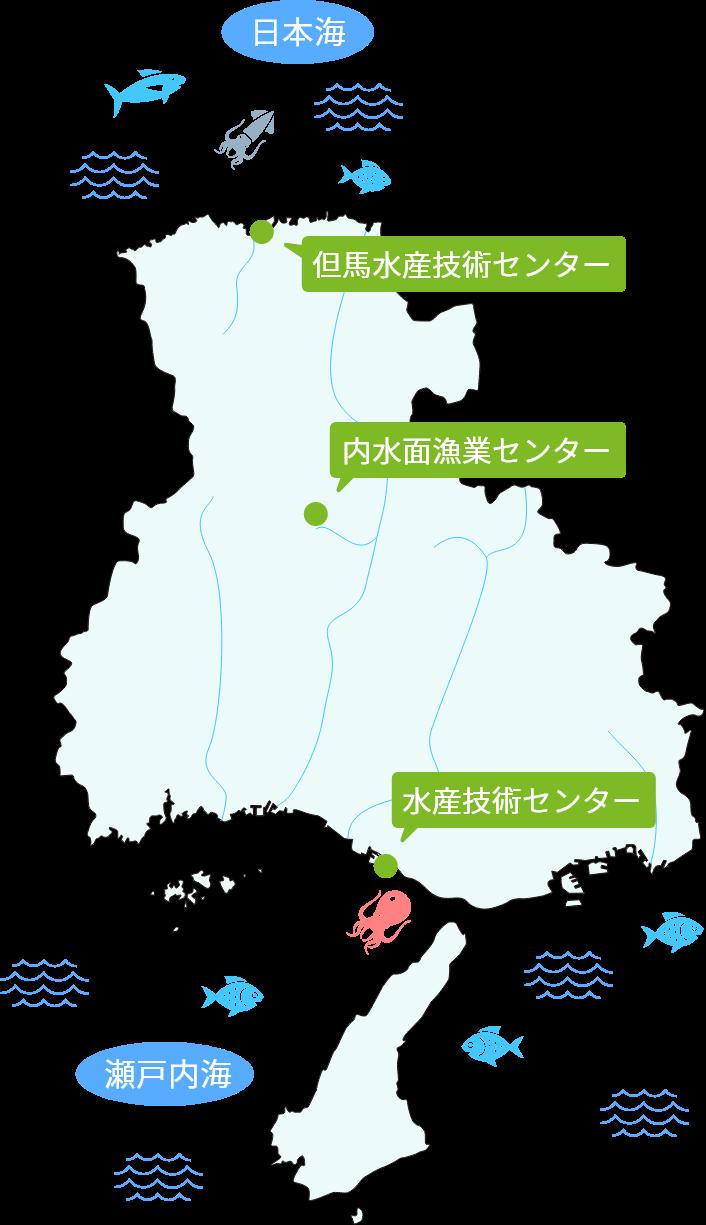 兵庫県の水資源の図